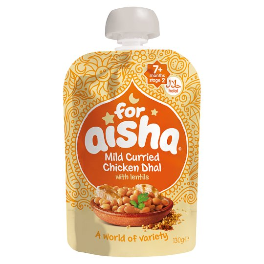 For Aisha Halal Chicken Dhal Pouch 130G