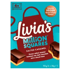 Livia's Million Squares Salted Caramel 4 X 38G