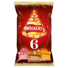 Walkers Christmas Sprout Haters Crisps 6X25g