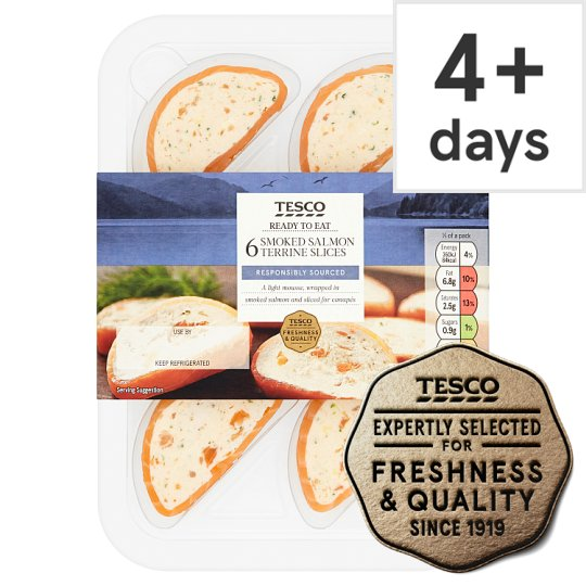 Tesco Smoked Salmon Sliced Crescent 114G