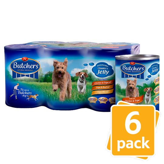 image 1 of Butchers Tripe Cuts In Jelly Tinned Dog Food 6 X400g