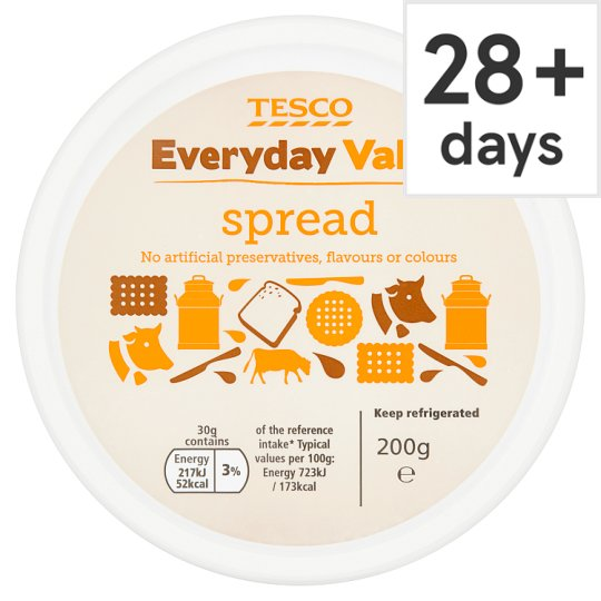 Tesco Everyday Value Cheese Spread 200G