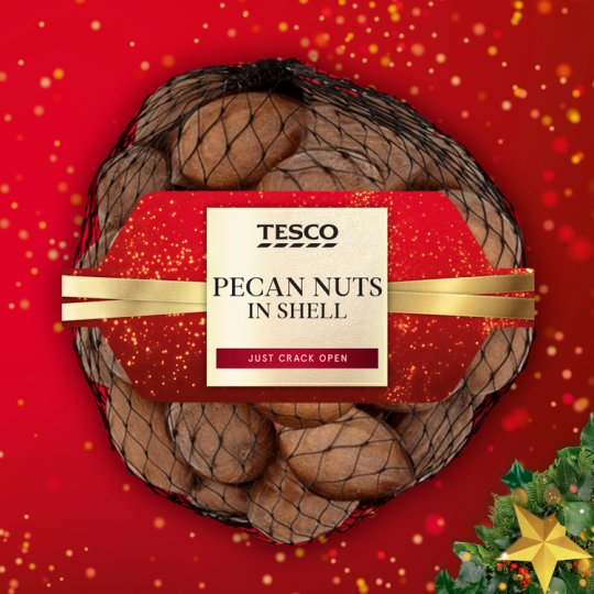 Tesco Pecan Nuts In Shell 300G