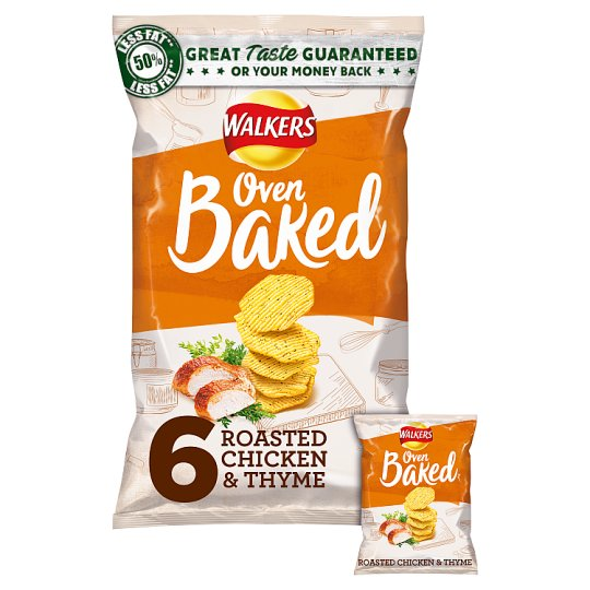 Walkers Baked Chicken And Thyme Snacks 6X25g