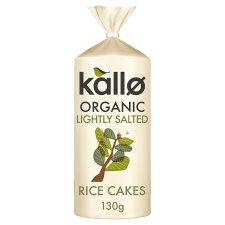 Kallo Organic Lightly Salted Wholegrain Rice Cake 130G
