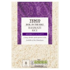 Tesco Boil In The Bag Basmati Rice 4 X 125G