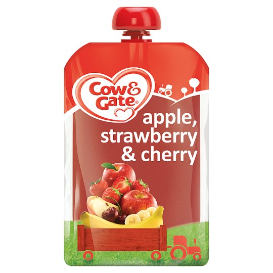 image 1 of Cow And Gate Fruit Pouch 4 Mth+ Apple Cherry Berry 100G