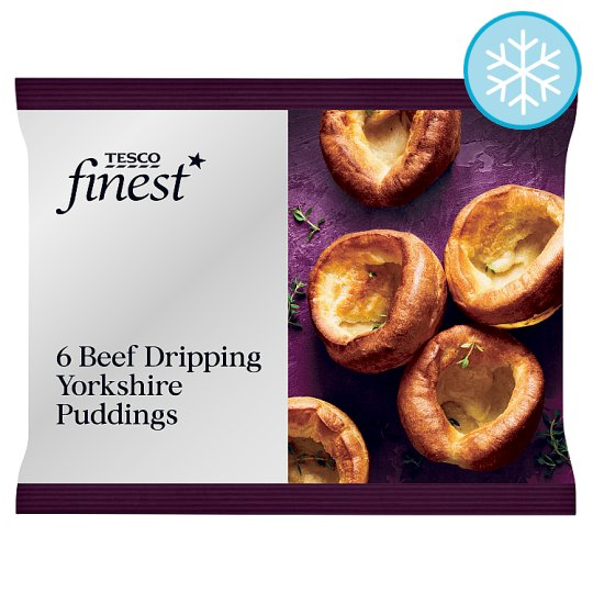 Tesco Finest 6 Beef Dripping Yorkshire Puddings 195G