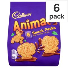 Cadbury Animals Snack Pack 6 Pack 132G