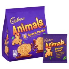image 2 of Cadbury Animals Snack Pack 6 Pack 132G