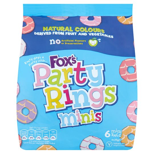 Fox's Mini Party Rings Biscuits 6 Bags