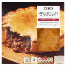 Tesco Minced Steak And Onion Shortcrust Pie 500G