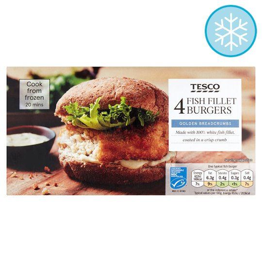 Tesco Breaded Fish Burger 320G