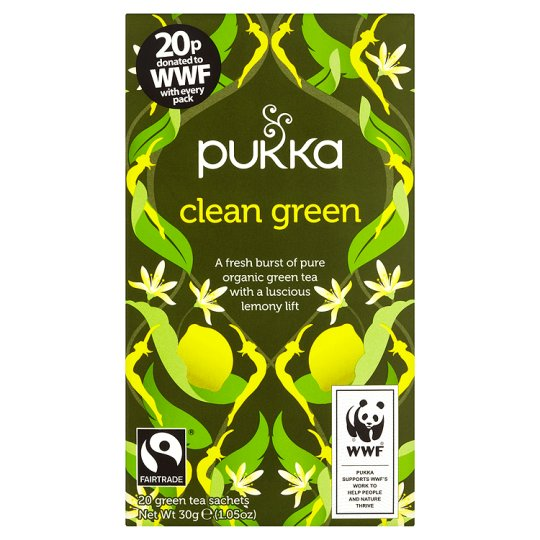 Pukka Organic Fair Trade Clean Green 20 Tea Bags 30G