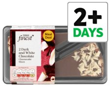 Tesco Finest Dark And White Chocolate Cheesecake Slices 180G