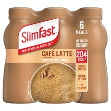 Slimfast Cafe Latte Milkshake 6X325ml