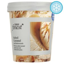 Tesco Finest Salted Caramel And Butterscotch Ice Cream 500Ml