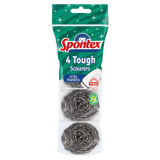 Spontex Tough Scourers 4 Pack