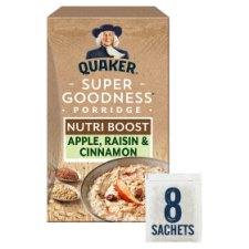 Quaker Apple Cinnamon And Raisin Porridge 8X38g