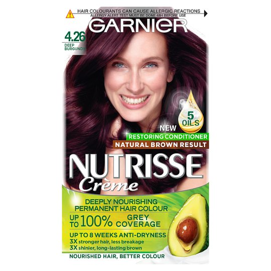 image 1 of Garnier Nutrisse 4.26 Deep Bgndy Red Permanent Hair Dye