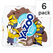 Yazoo No Added Sugar Chocolate 6 Pack 200Ml