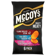 Mccoy's Mighty Meaty Variety Crisps 6X25g
