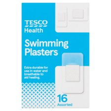Tesco Assorted Waterproof Plasters 16'S