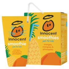 Innocent Kids Mango And Pineapple Smoothie 4 X 180 Ml