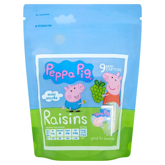 Peppa Pig Mini Snack Raisins 9X14g