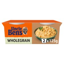 Uncle Bens Rice Cups Wholegrain 2X125g