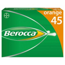 Berocca Orange Effervescent Vitamin Energy Tablets 45S