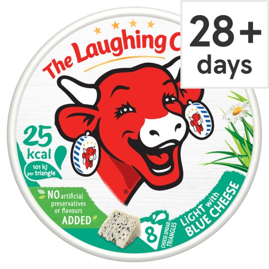 Laughing Cow Light Blue Cheese Triangles 128 G