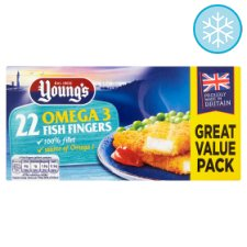 Youngs Omega 3 Fish Fingers 22 Pack 550G