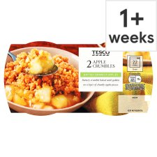 Tesco 2 Apple Crumbles 270G