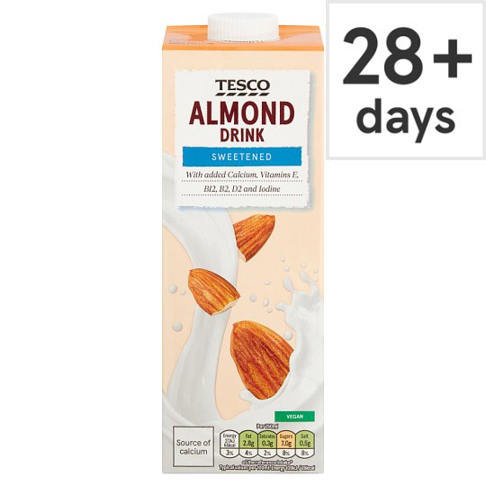 Tesco Almond Sweetened Longlife Milk Alternative 1 Litre