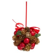 Tesco Cone And Berry Hanging Decoration