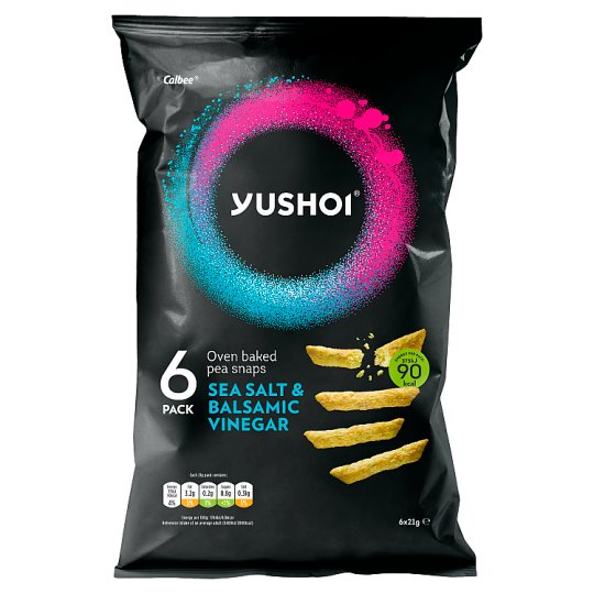 Yushoi Snapea Sticks Soy Balsamic Vinegar 6X21g