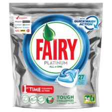 Fairy Platinum All In One 27 Dishwasher Cool Blue Tablets 402G