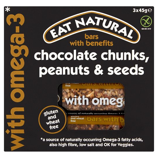 Eat Natural Bars Dark Chocolate Mixed Seeds And Peanut 3X45g