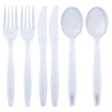 Swantex Clear Plastic Cutlery 24 Pack
