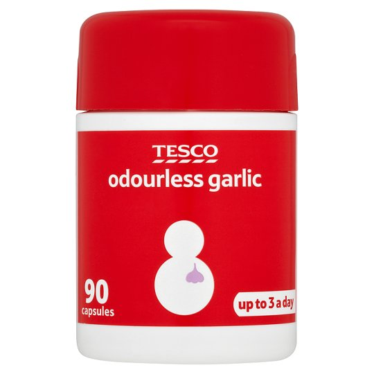 Tesco Odourless Garlic X 90