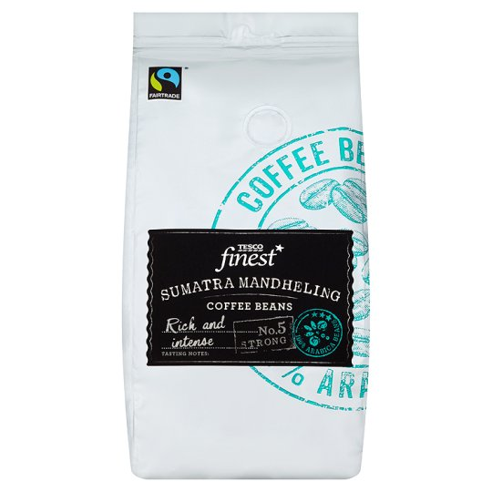 Tesco Finest Java Sumatra Coffee Beans 227G