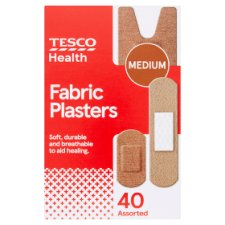 Tesco Assorted Fabric Plasters 40'S