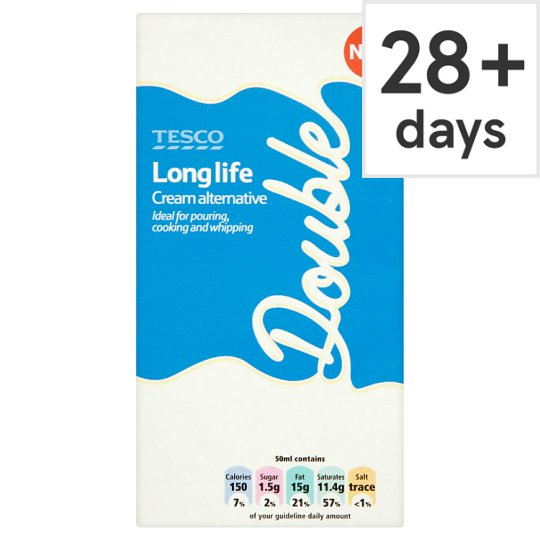tesco long life double cream alternative 483ml groceries tesco groceries. Black Bedroom Furniture Sets. Home Design Ideas