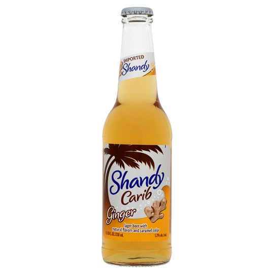 Shandy Carib Lager Beer Ginger 330Ml - Groceries