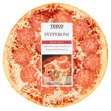 Tesco Thin And Crispy Pepperoni Pizza 278G
