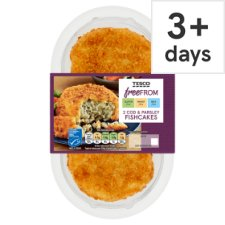 Tesco Free From Cod And Parsley Fishcake 270G