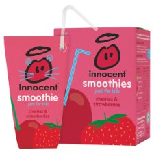 Innocent Kids Cherry & Strawberry Smoothie 4 X 180 Ml