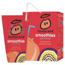 Innocent Kids Peach & Passion Fruit Smoothie 4 X 180 Ml