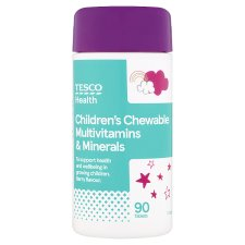 Tesco Kids Chewable Multivitamins Plus Minerals X 90